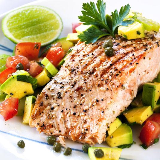Lachs mit Gemüse Dukan-Diät